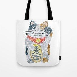 Watercolor Maneki Neko / Lucky Cat Tote Bag