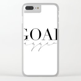 GOAL DIGGER SIGN, Success Quote,Marble Decor,Girls Room Decor,Fashion Print,Modern Art Clear iPhone Case