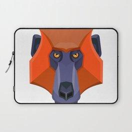 Baboon Head Flat Icon Laptop Sleeve