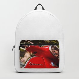 60s Classic Red Vespa Scooter (Motorcycle) - Italy's Most Famous Cultural Icons - Amazing Oil painting Backpack