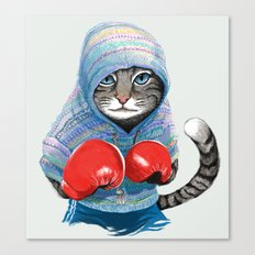 Boxing Cat Canvas Print