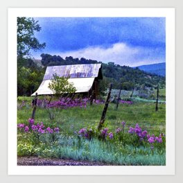 Purple Dames Rocket Ranch Saturated by CheyAnne Sexton Art Print