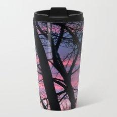 Wisconsin Sunset in the Winter Metal Travel Mug