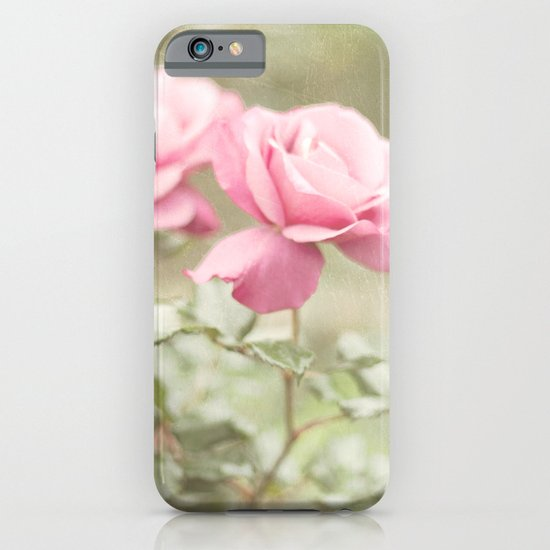 Textured and Pastel roses (vintage flower photography) iPhone & iPod Case