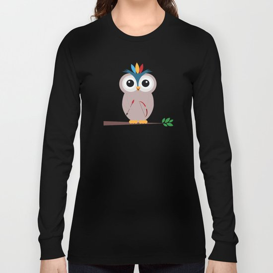 Be brave with owl Long Sleeve T-shirt