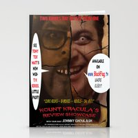 minions Stationery Cards featuring Kount Kracula's Review Showcase -TV Show Promo Poster  by Tex Watt