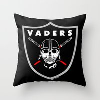 oakland Throw Pillows featuring Oakland Vaders by Ant Atomic