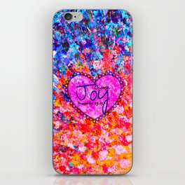 CHOOSE JOY Christian Art Abstract Painting Typography Happy Colorful Splash Heart Proverbs Scripture iPhone Skin