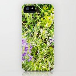 Wild Delphinium Bliss iPhone Case