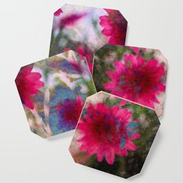 flowers abstract Coaster
