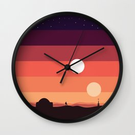 Tatooine Sunset Wall Clock