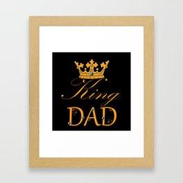 King Dad: Gold Framed Art Print