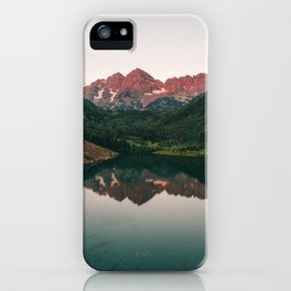 Maroon Bells Sunrise Reflection iPhone Case