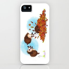 Fall Hedgie 1 iPhone Case