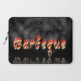 Barbeque Text On Fire Laptop Sleeve
