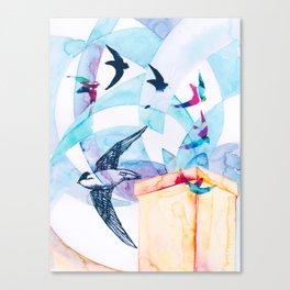 Chimney Divers Canvas Print