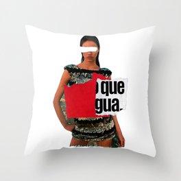 Advertising lies, but sell 6 Throw Pillow