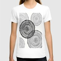 tree rings T-shirts featuring rings by Claire Rose Kleese
