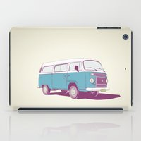 vw bus iPad Cases featuring VW Combi v.02 by CranioDsgn