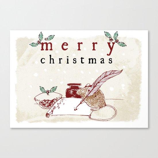 Dear Santa Christmas Card Canvas Print