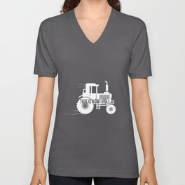 This Is How I Roll Tractor Design For A Farmer design Unisex V-Neck