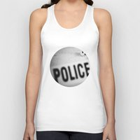 police Tank Tops featuring Police Line by GF Fine Art Photography