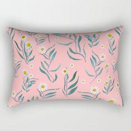 Pink white leaves Rectangular Pillow