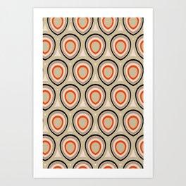 Boho Peacock - Neutral Flame Art Print