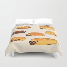 Bread Pugs Duvet Cover