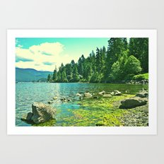 down by the water Art Print