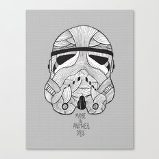 Stormtrooper: Another Drill (grey) Canvas Print