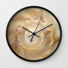 Lightning Whelk Seashell Wall Clock