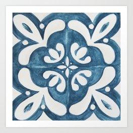Mediterranean Tile III Art Print