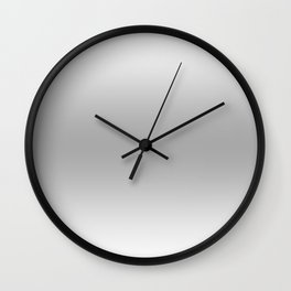 White to Gray Horizontal Bilinear Gradient Wall Clock
