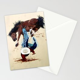 Thrown Rodeo Cowboy Stationery Cards