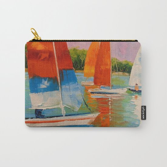 Sailboats on the river Carry-All Pouch