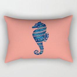 Abalone Tribal Seahorse Rectangular Pillow