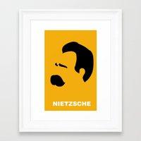 nietzsche Framed Art Prints featuring NIETZSCHE by eve orea