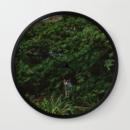 Hawaiian Cat Wall Clock