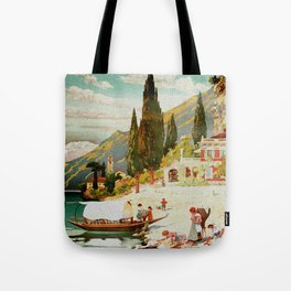Switzerland and Italy Via St. Gotthard Travel Poster Tote Bag