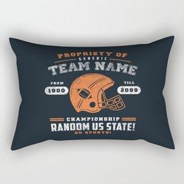 Generic Football T-Shirt Rectangular Pillow
