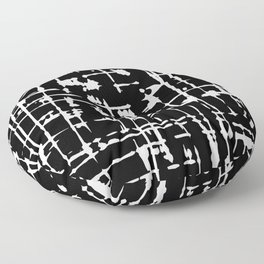 Abstract black and white artwork Floor Pillow
