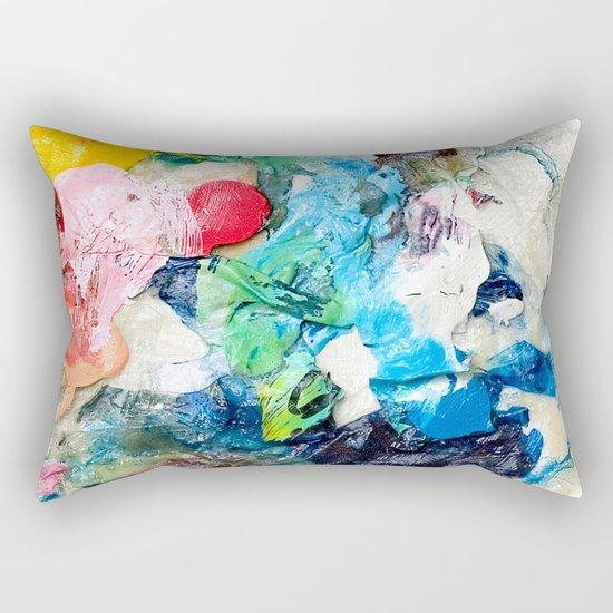 Rainbow Earth Paint Moon Love Rectangular Pillow