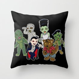 Universal Monsters Throw Pillow