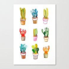 Cactus collection Canvas Print