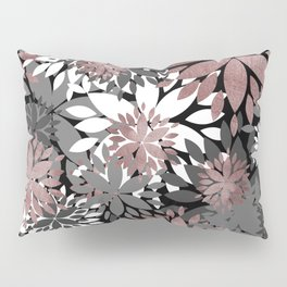 Pretty rose gold floral illustration pattern Pillow Sham