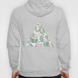 Modern triangles and hand paint cactus pattern Hoody