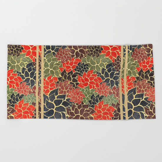 Floral Abstract 17 Beach Towel