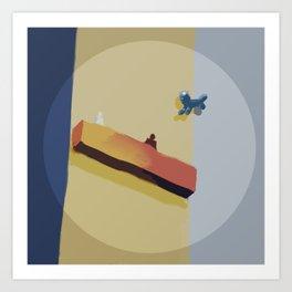 The Floating Dog Art Print