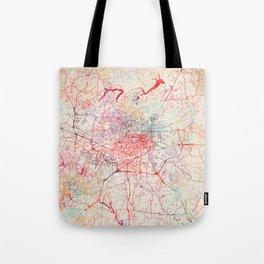 Greensboro map North Carolina painting Tote Bag